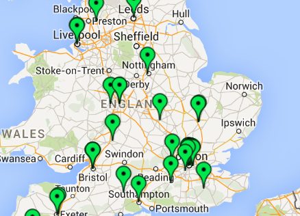 Map Of England And Wales With Towns.Choosing A Firm By Location Chambers Student Guide