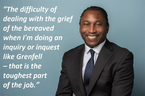 "Leslie Thomas QC is representing the families of Grenfell victims and working to protect land rights in Barbuda where ""the fate of a whole island is at stake."" In our interview with him, he reminds us that a lawyer's duty is to justice above all else."